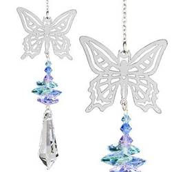 Butterfly and Crystal Suncatcher
