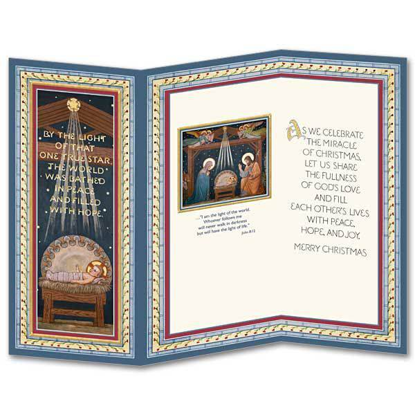 By the Light Trifold Boxed Christmas Cards christmas cards, box cards, trifold, wcr2056, holiday cards