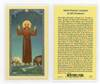 Canticle Of St. Francis Laminated Prayer Card
