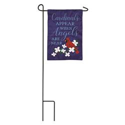 Cardinals Appear When Angels Are Near Garden Applique Flag