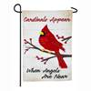 Cardinals Appear When Angels Are Near Garden Linen Flag