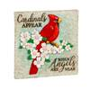 "Cardinals Appear with Angels Are Near 10.5"" Garden Stone"