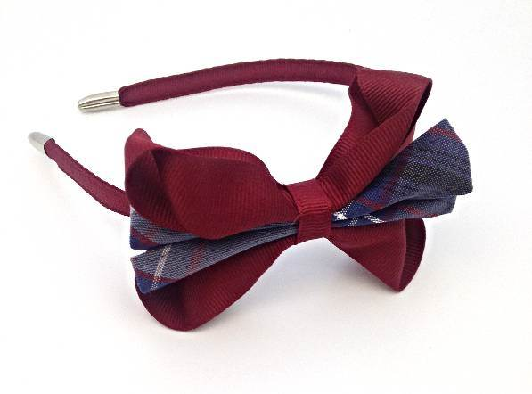 Carnival Bow on Covered Headband #53