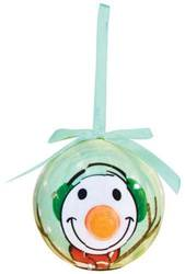 Carrot Nose Snowman Lighted Nose Ball Ornament