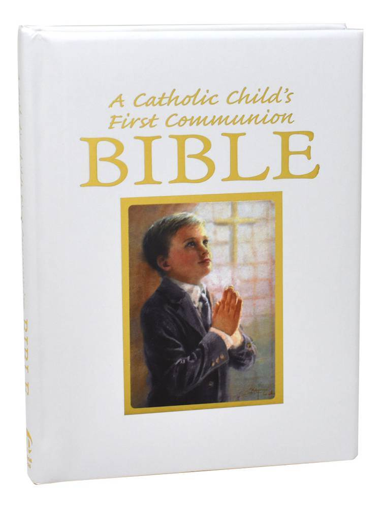 A Catholic Child's First Communion Bible-Blessings - Boy