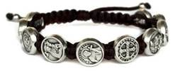 Catholic Saints Blessing Bracelet with Story Card