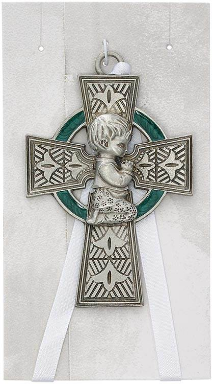 Celtic Baby Boy Crib Cross