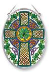 "Celtic Cross 7"" Glass Suncatcher"