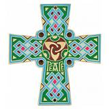 Celtic Cross House Blessing Door Plate