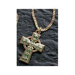Celtic Cross Pendant celtic cross, celtic pendant, celtic necklace, green celtic pendant, cross necklace, celtic cross necklace, 36422, sacramental gift, irish gift,