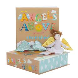 Cherished Guardian Angel Girl with Book angel, angel doll, guardian angel, baby gift, shower gift, guardian angel gift, angel wings, book childs book, childrens book, doll set, gift set, 101