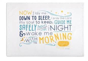 Childrens Bedtime Prayer Pillowcase