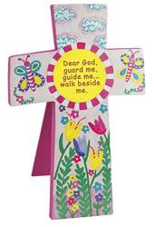 Childrens Pink Wall or Standing Cross
