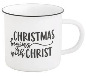 Christmas Begins With Christ Camp Mug