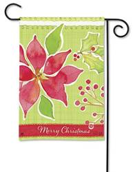 Christmas Flower Garden Flag