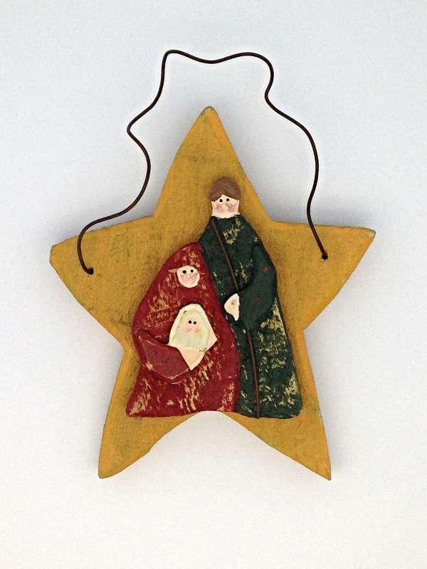Christmas Holy Family Star Plague/6 PK