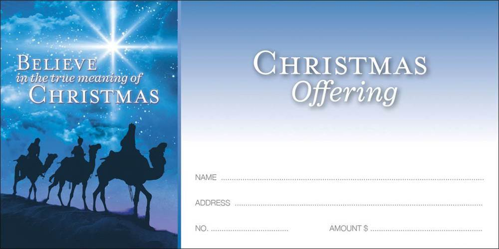 Christmas Offering Envelope-3 Wisemen