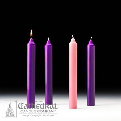 Church Advent Stearine Candle Set