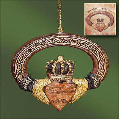 Claddagh Ornament with Card