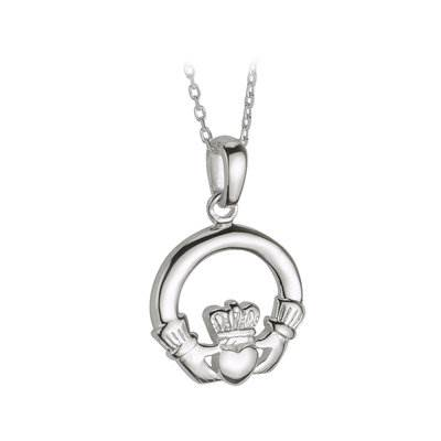 "Claddagh Sterling Silver Pendant on 18"" Chain"