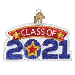 Class of 2021 Glass Ornament