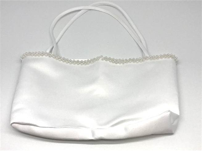 Classic White First Communion Purse