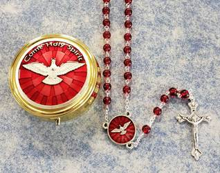 Come Holy Spirit Confirmation Rosary and Case