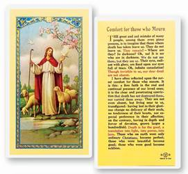 Comfort For Those Who Mourn Laminiated Holy Card