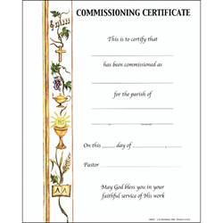 Commissioning Certificate with Envelope