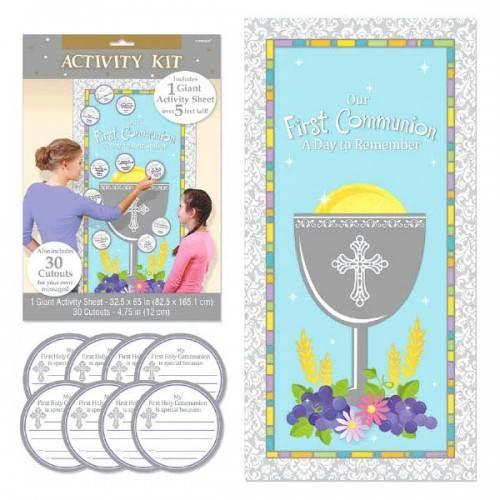 Communion Activity Kit 670309, party game, activity kit, first communion messages, holy eucharist gift, party idea,