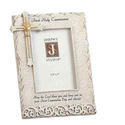 "Communion Frame with Stone Finish 8""H"