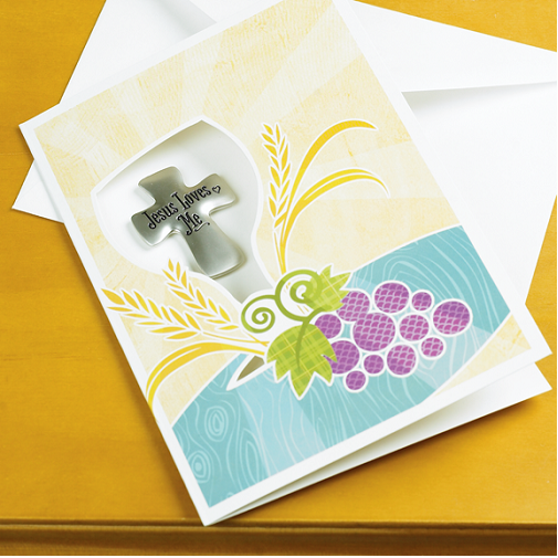 Communion Greeting Card & Token*WHILE SUPPLIES LAST*