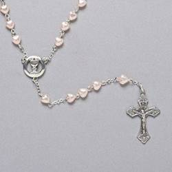 Communion Heart & Pearl Rosary