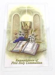 Communion Rememberance Laminated Prayer Card first communion prayer card, laminated prayer card, gift, holy card, gift tag, HC-CO