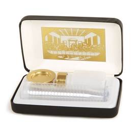 Communion Set with 20 Disposable Cups, Last Supper Lining