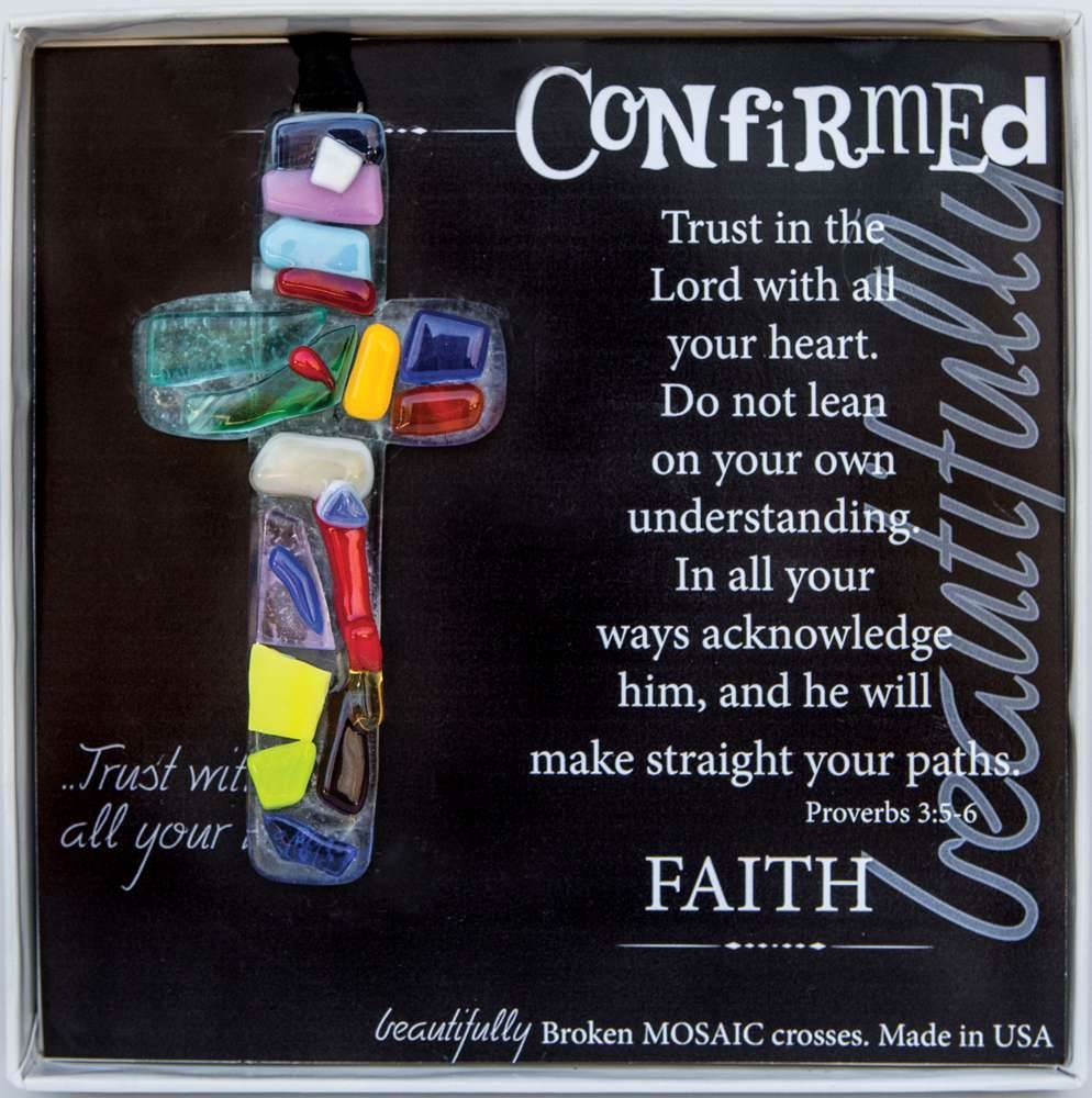 Confirmation Mosaic Glass Ornament