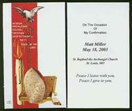 Confirmation Personalized Holy Cards-Laminated