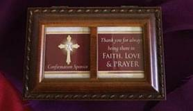 Confirmation Sponsor Keepsake Box