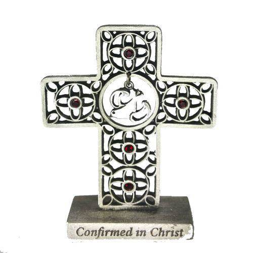 Confirmation Standing Cross with Crystals