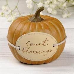 "Count Blessings 3.25"" Pumpkin"