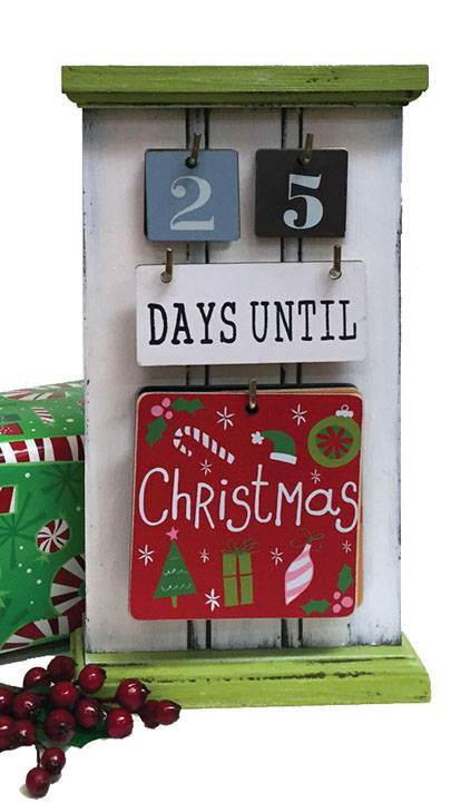 Countdown To Everything Wooden Calendar with 6 Double Sided Plaques! advent calendar, countdown to christmas, countdown to xmas, countdown to halloween, countdown to thanksgiving, countdown to new years eve, countdown to NYE, countdown calendar to school, countdown till schools out