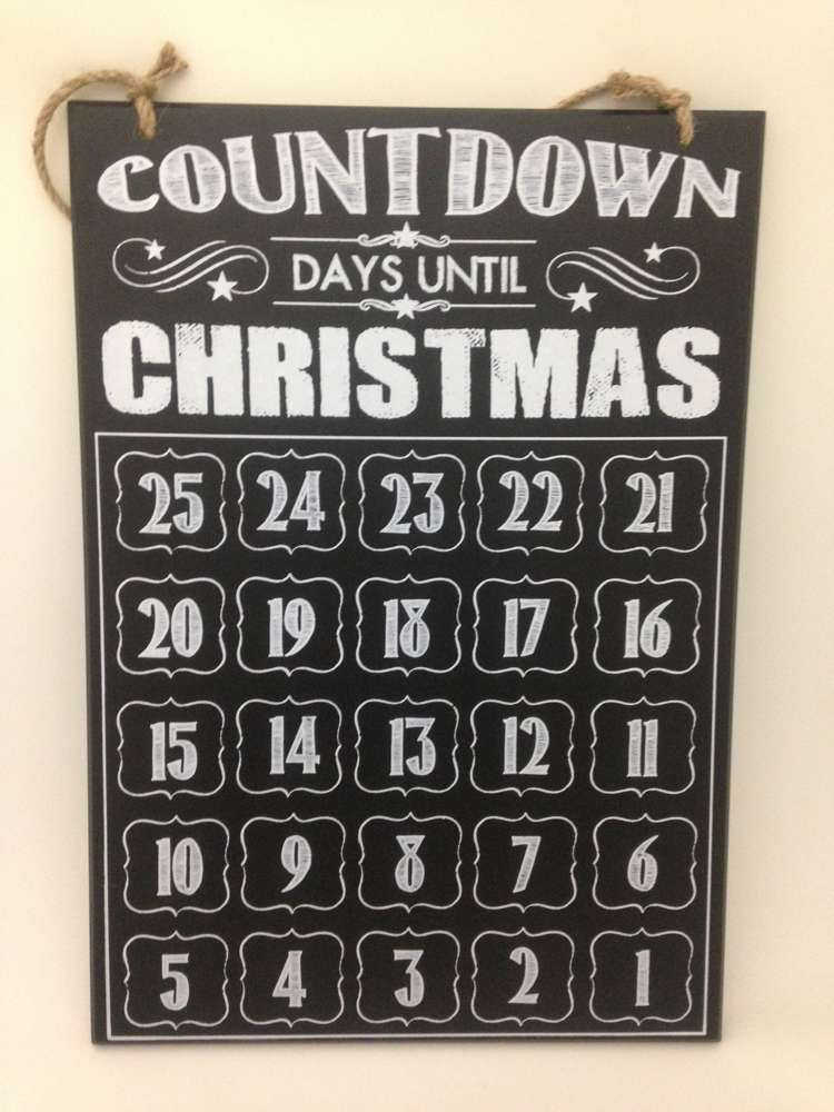 Days Till Christmas Chalkboard.Countdown To Christmas Calendar Chalkboard
