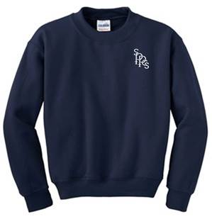 Heavy Blend Quality Sweatshirt with Embroidered SPPCS School Logo