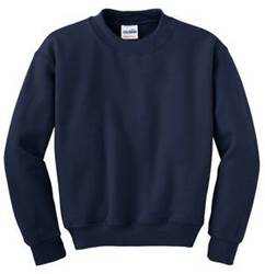 Crewneck Sweatshirt, Navy Blue