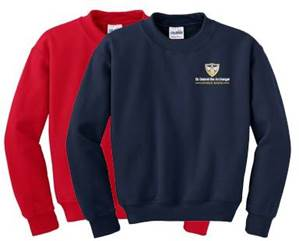 Crewneck Sweatshirt with St. Gabriel School Logo
