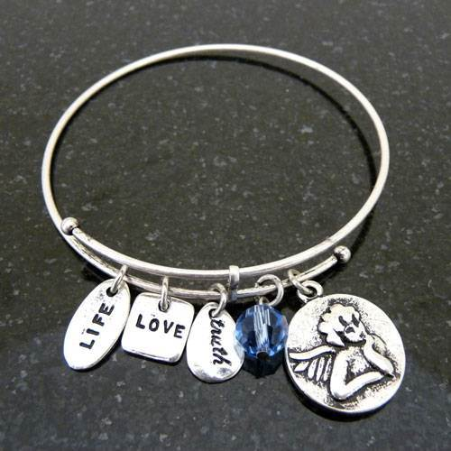 Angel Charm Bracelet Bangle Bracelet