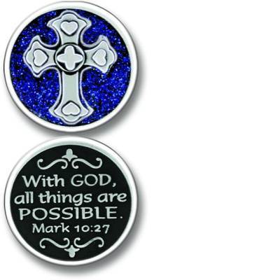 Cross Enamel Pocket Coin