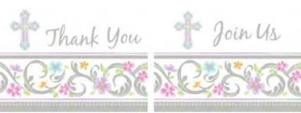 Cross Invitation and Thank You Note Value Pack