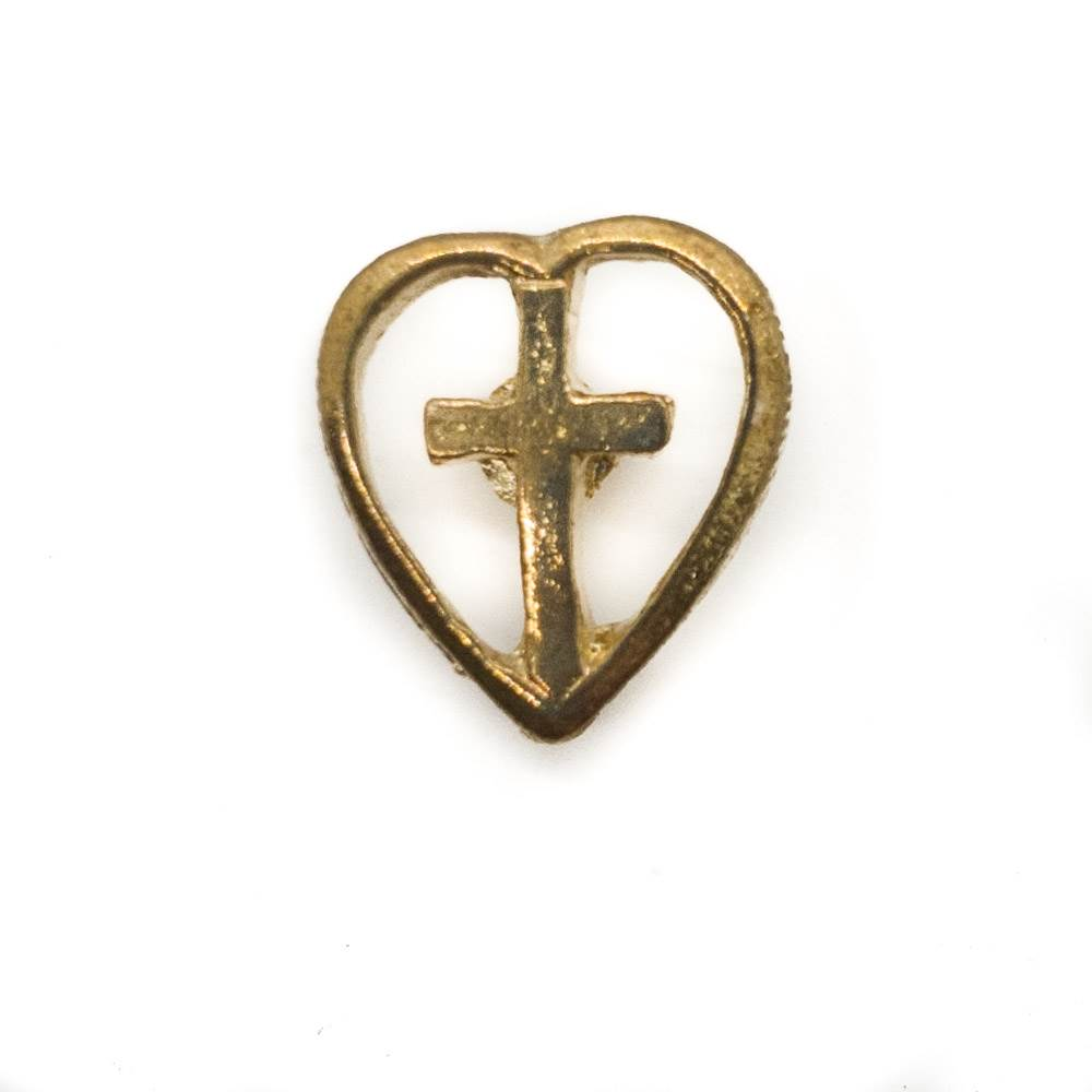 Cross in Heart Lapel Pin