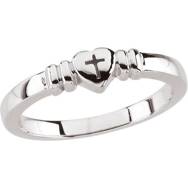 Cross in Heart Purity Ring purity ring, true love waits, chastity ring,